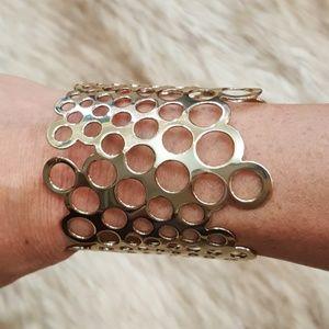 Paco Rabanne Gold Cuff Bracelet